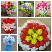 Букеты из воздушных шариков ко Дню матери